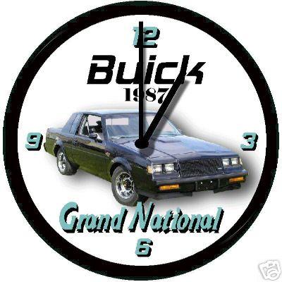 1987 buick gn clock