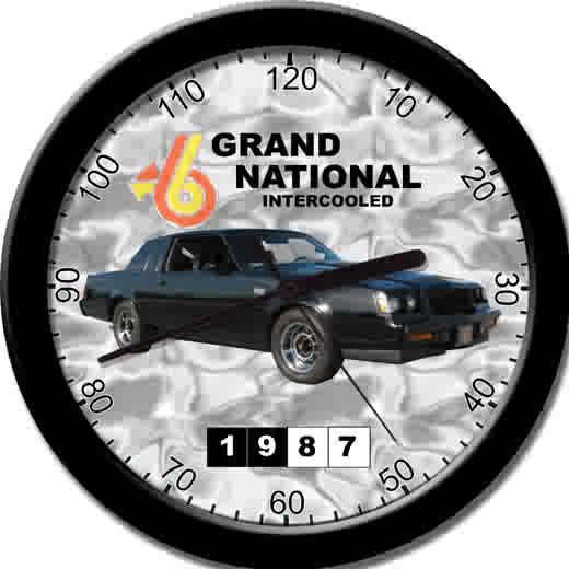 1987 buick grand national clock