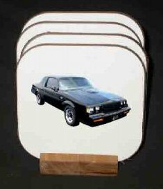 1987 buick grand national drink coaster set