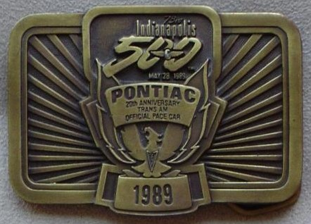 1989 indy belt buckle