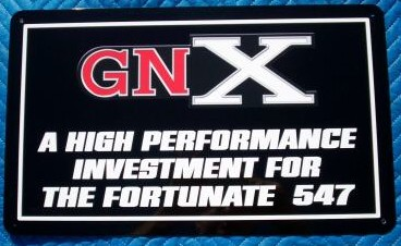buick gnx sign
