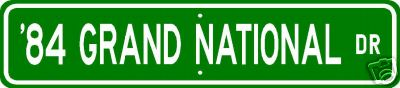84 grand national sign