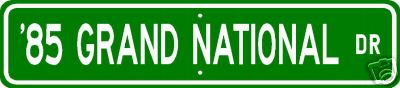 85 grand national sign