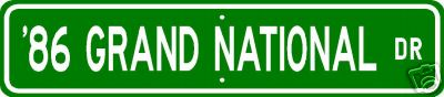 86 grand national sign