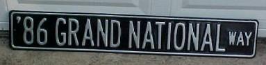 86 grand national way sign