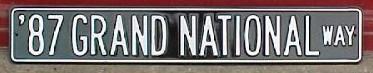 87 grand national way sign