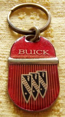 Buick Key Ring with Brass Fob