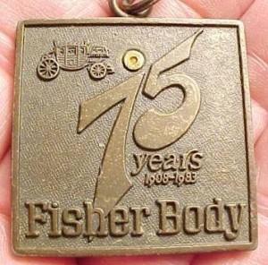 Fisher Body 75 years keychain