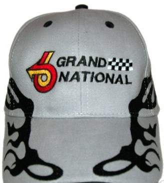 gray buick hat with flame