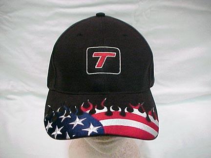 PATRIOTIC FLAMED TURBO T CAP