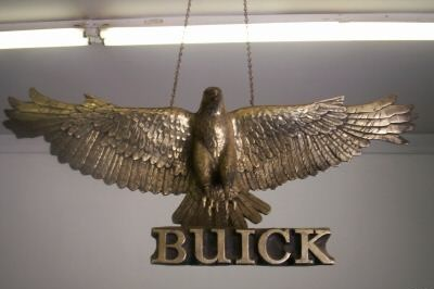 buick dealership hawk display