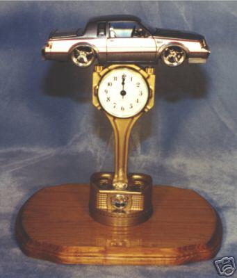 buick diecast gold plated piston clock