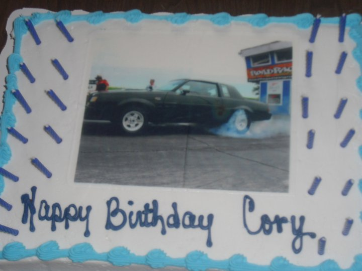 buick grand national birthday cake