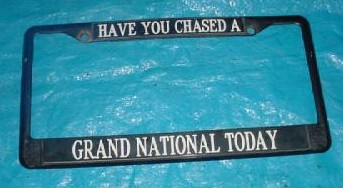 buick grand national license frame