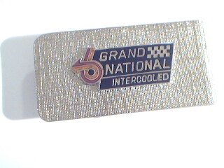 buick grand national logo money clip