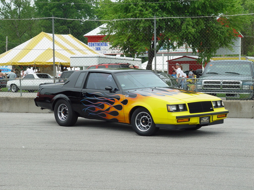 buick grand national with flames