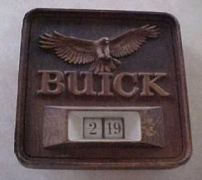 buick hawk clock