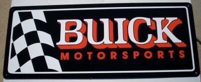 buick motorsports flag sign