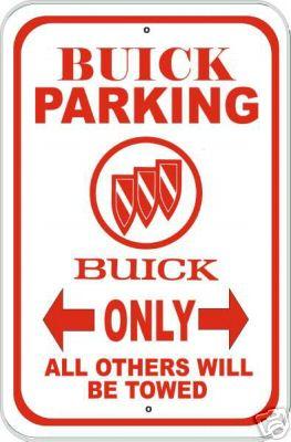 buick parking sign