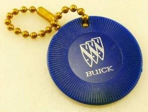 buick poker chip keychain
