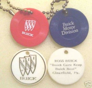 buick poker chip keychains