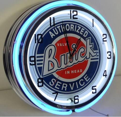 buick service neon clock