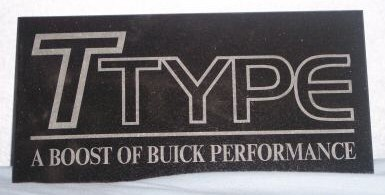 buick t type granite plaque