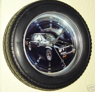 buick tire rim clock
