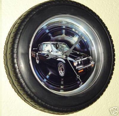 buick tire rim clock