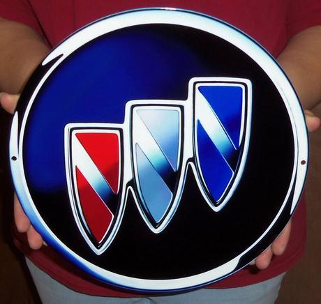 buick tri shield logo sign
