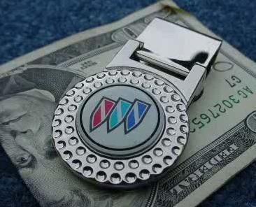 buick tri shield money clip
