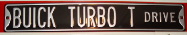 buick turbo t sign