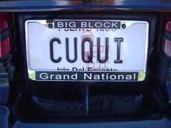 buick vanity plate