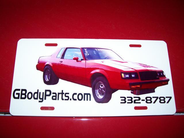 buick vendor license plate