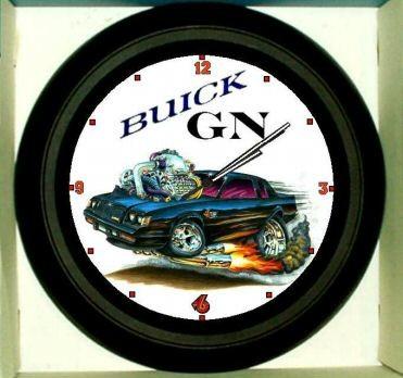 cartoon turbo buick regal clock