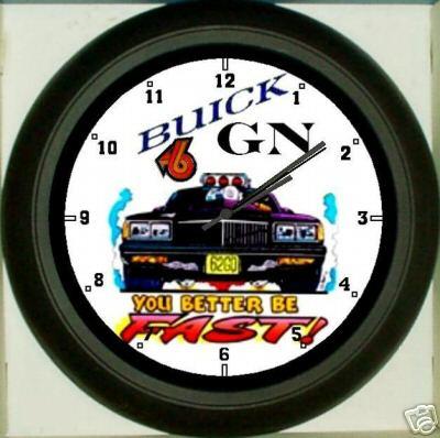 fast turbo buick clock