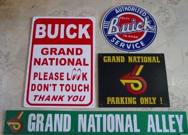 buick grand national signs