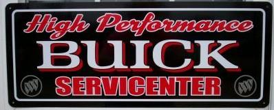 hi-perf buick sign