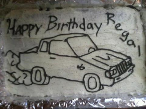 kids birthday buick cake