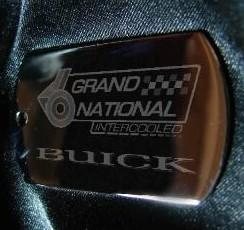 laser etched keyholder Buick Grand National emblem