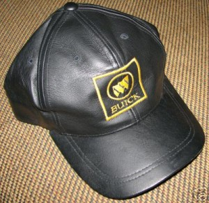 leather buick hat