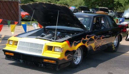 old school flamed paint job