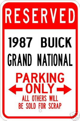 reserved for 1987 buick grand national