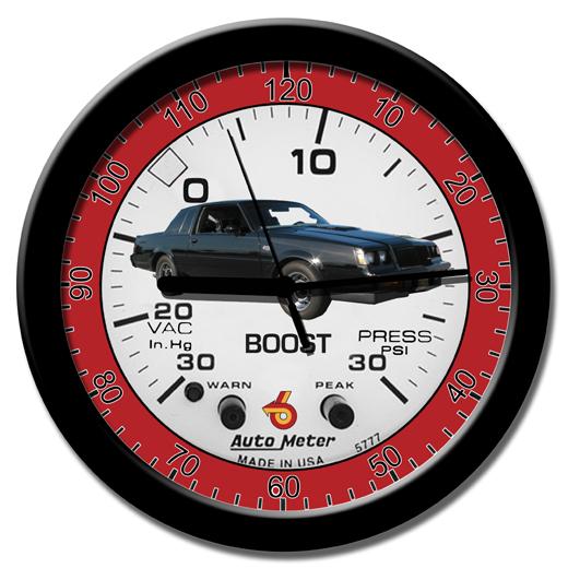 turbo boost buick design clock