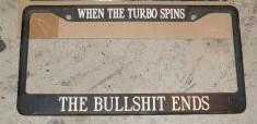 turbo license frame