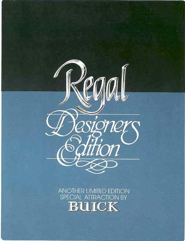 1980 Buick Regal Designers Edition Brochure