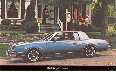 1980 regal limited postcard