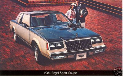 1981 regal sport coupe postcard