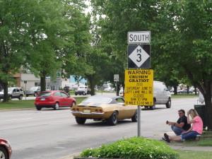 cruising gratiot sign