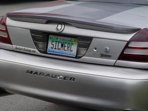 mercury marauder license plate